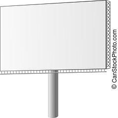 vetorial, billboard, rua, ilustração