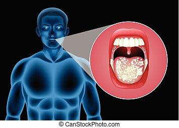 vetorial, boca, human