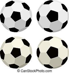 vetorial, bolas futebol