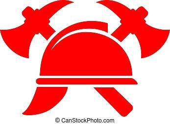 vetorial, bombeiro, pictograma