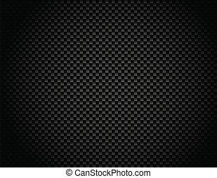 vetorial, botão, ligado, carbono, fibra, backg