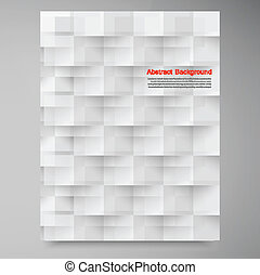 vetorial, branca, squares., abstratos, backround