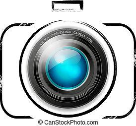 vetorial, câmera, ícone