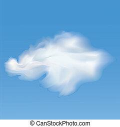 vetorial, céu, clouds.