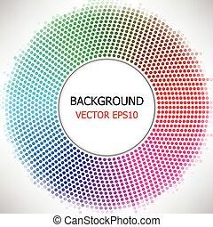 vetorial, círculo, coloridos, fundo, pontilhado
