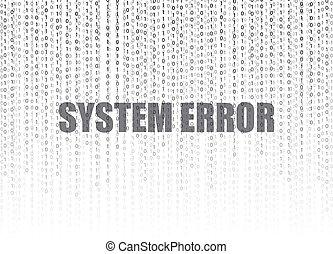 vetorial, código binário, fluxo, ilustração, sistema, fundo, números, palavras, erro, tecnologia