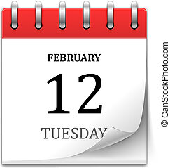 vetorial, calendário, ícone