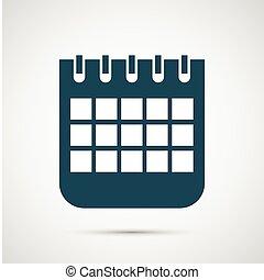 vetorial, calendário, isolado, branco, fundo