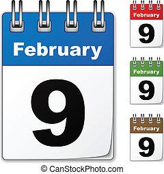 vetorial, calendários, colorido