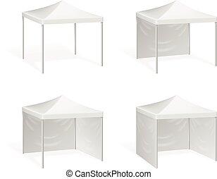 vetorial, canopy., estoure cima, barraca, para, ao ar livre,...