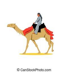 vetorial, caricatura, cameleer, illustration.