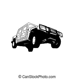 vetorial, carro., illustration., offroad