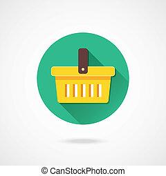 vetorial, carro shopping, ícone