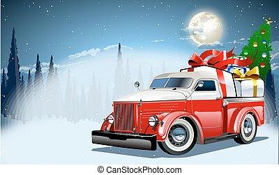 vetorial, cartão natal