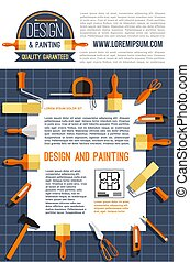 vetorial, cartaz, para, casa, desenho, e, quadro