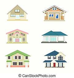 vetorial, casa, branca, jogo, fundo