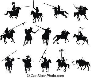 vetorial, cavaleiros, jogo