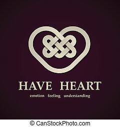vetorial, celta, coração, símbolo, desenho, modelo