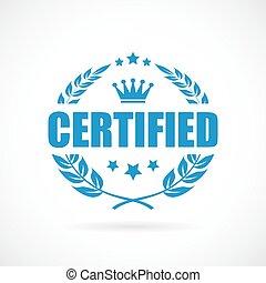 vetorial, certificado, ícone