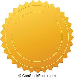 vetorial, certificado, selo