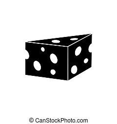 vetorial, cheese., ilustração, ícone