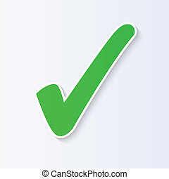 vetorial, cheque, ilustração, marca