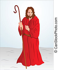 vetorial, christ, ilustração, jesus