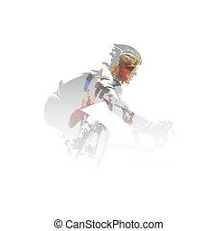 vetorial, ciclismo, exposição, multi, ciclistas, ilustração, estrada