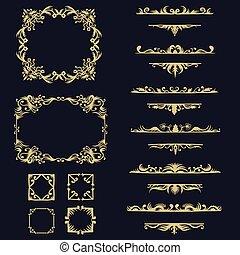 vetorial, cobrança, ilustração, ornamento, jogo