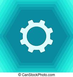 vetorial, cogwheel, ícone