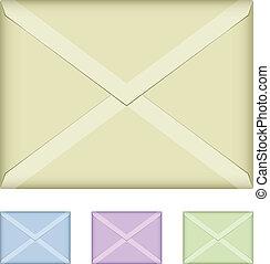 vetorial, colorido, envelopes