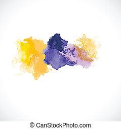 vetorial, coloridos, abstratos, ilustração, aquarela, fundo