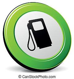 vetorial, combustível, 3d, ícone