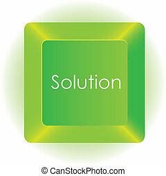 vetorial, computador, isolado, ilustração, fundo, tecla verde, branca