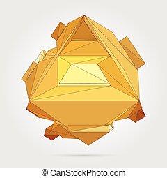 vetorial, conceito, illustration., 3d
