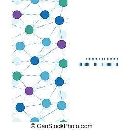 vetorial, conectado, pontos, vertical, quadro, seamless, padrão, fundo