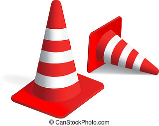 vetorial, cones tráfego