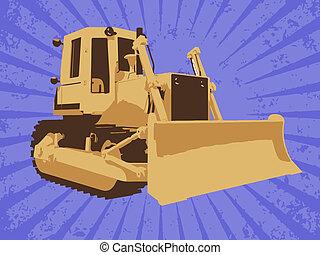 vetorial, construção, caminhão