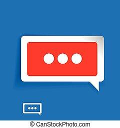 vetorial, conversa, ícone