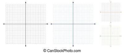 vetorial, coordenada, sistema cartesiano, em branco