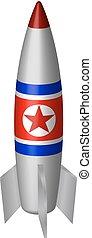 vetorial, coréia, norte, míssil