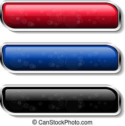vetorial, cor, botões, -, eps, 10