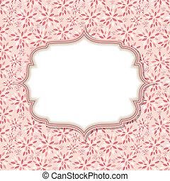 vetorial, cor-de-rosa, quadro, cute, ilustração
