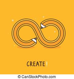vetorial, criativo, conceito