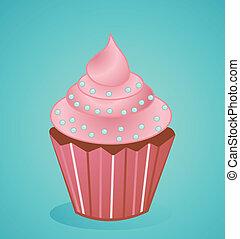 vetorial, cupcake