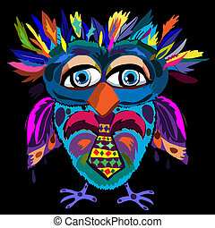 vetorial, cute, (hipster, símbolo, ilustração, caricatura,...