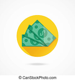 vetorial, dólar cobra, ícone