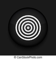 vetorial, dardos, icon., eps10., fácil, para, editar