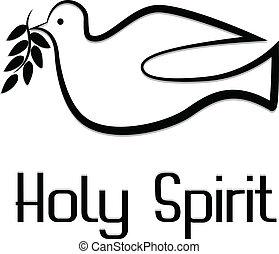 vetorial, de, espírito sagrado, símbolo