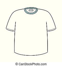 vetorial, de, t-shirt